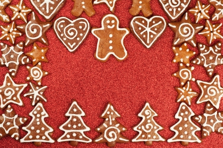 Homebaked Christmas Gingerbread Cookies border photo