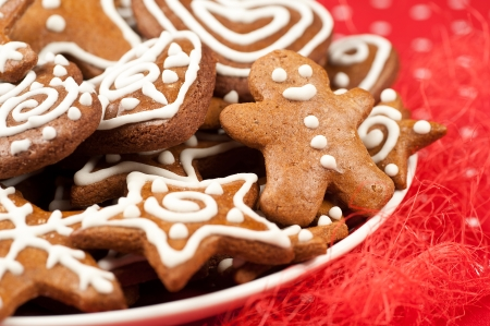 Decorated Homebaked Gingerbread Christmas Cookies