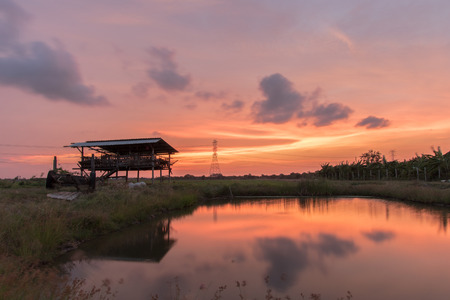 mid distance: Sunset Nonthaburi
