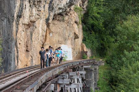 kanchanaburi: Death Railway at Kanchanaburi in Thailand