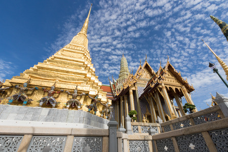 in wat phra kaew: The Wat Phra Kaew Temple Stock Photo