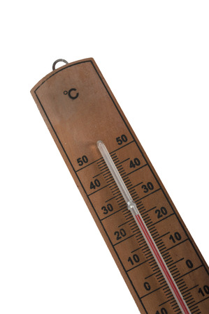 termometer: wooden thermometer