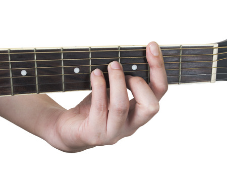 Guitar Chord Bm With White Background Stock Photo Picture And