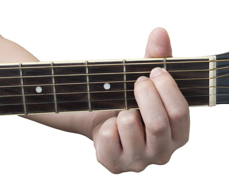 chord: guitar chord Em with white background