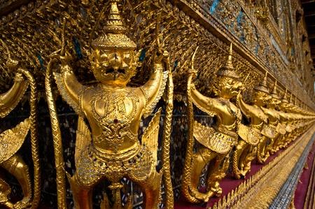 Ancient Decoration At Wat Prakaew Stock Photo