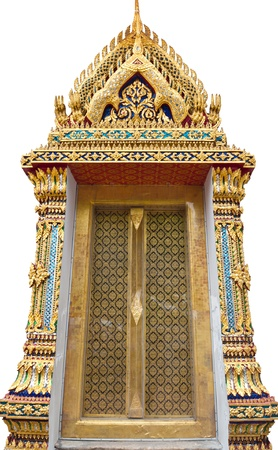 Ancient The Door in Wat Pho in Bangkok, Thailand  Stock Photo