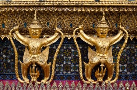 Ancient decoration Wat Prakeaw in Thailand