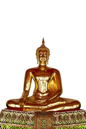 Golden Buddha in Wat Pho Temple Bangkok Thailand