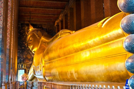 Reclining Buddha image in Wat Pho Thailand Editorial