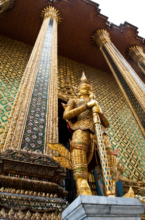 Golden guard in Royal palace  Editorial