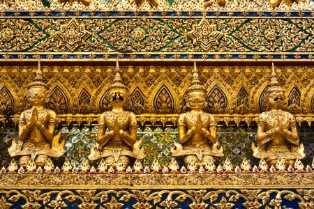 Ancient Decoration in Wat Prakeaw Bangkok, Thailand