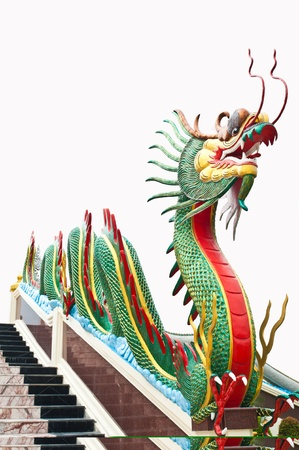 Colorful dragon in Thailand Stock Photo