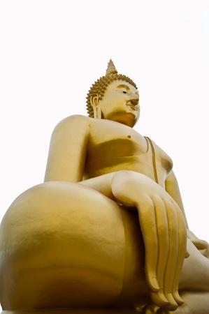 Golden Big Buddha Image Stock Photo