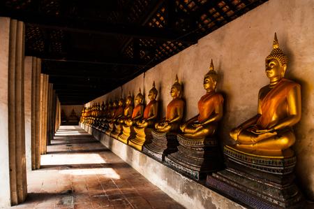 Ancient beautiful Buddha at Ayuthaya inthailand