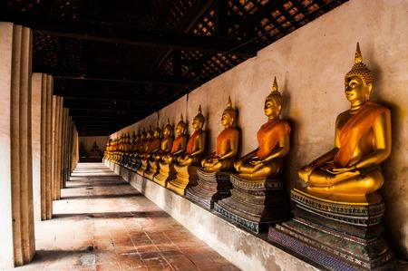 Buddha Ancient Ayutthaya statue in Thailand Editorial