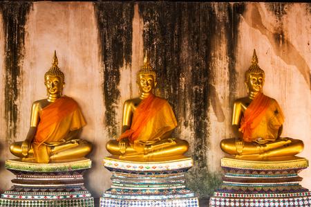 Ancient beautiful Buddha Ayuthaya in Thailand