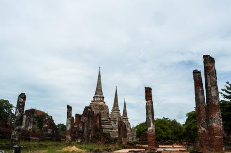 Wat Phra Si Sanphet Temple ancient at ayuthaya inthailand