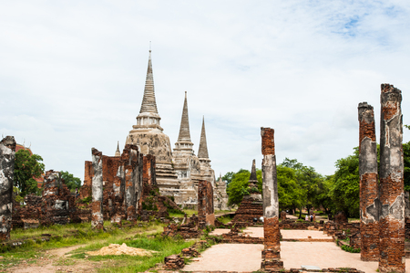 Anciet temple beautyful at Ayuthaya ib Thailand