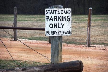Casual land parkeren teken