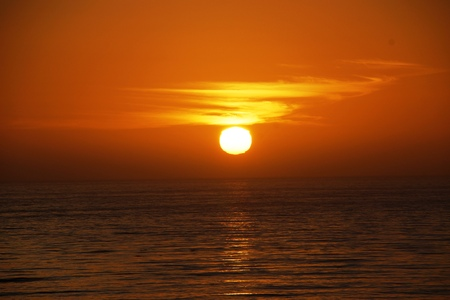 Orange sunset over the Pacific