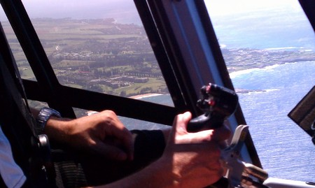 Helicopter over Maui