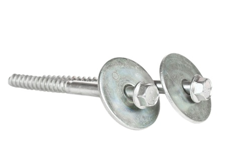 Screws over a white background Stock Photo - 16482432