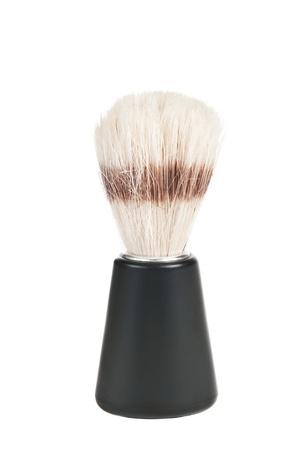 Shaving brush on a white background Stock Photo