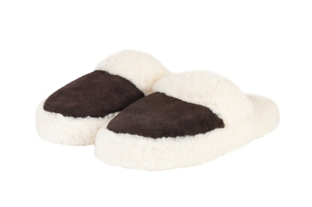 Slippers on white background Stock Photo
