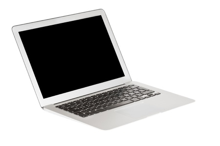 Modern laptop on white background