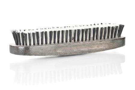Old, used, shoe brush over a white background Stock Photo - 17249829