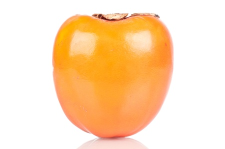 Persimmon over white reflective background