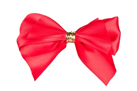 Red bow isolated on white background Stock Photo - 17670454