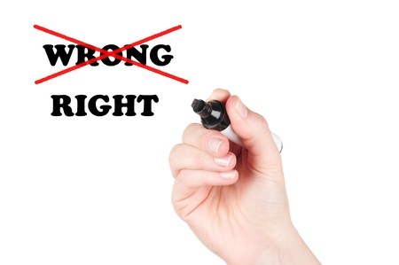 rightful: Choosing the Right way  Ethic concept