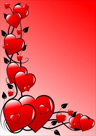 graduated: Pink Graduated Valentines Background