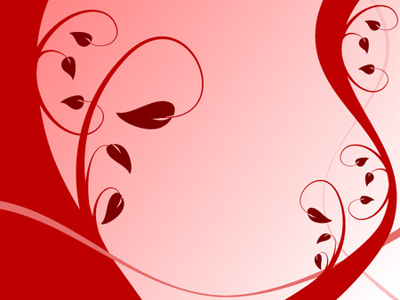 brown background: An abstract red vector floral background illustration with a formal red floral design on a lighter backdrop