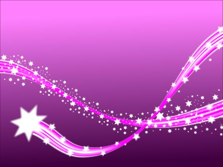 A shooting stars christmas scene on a purple background with room fro text photo