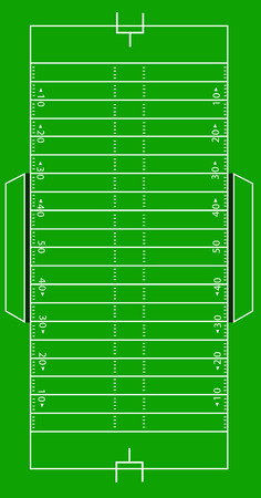 Scale Illustration of an American football field Vector
