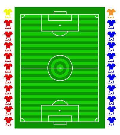 movable: A soccer football tactical pitch with movable players