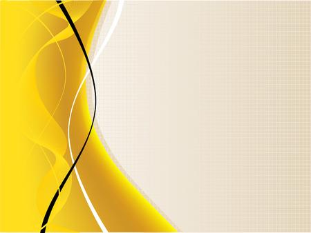 stein schwarz: Eine gelbe und wei�e abstrakte Hintergrund-Illustration mit Platz f�r text Illustration