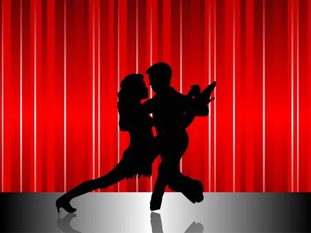 latin american: Latin American Dancers in Silhouette