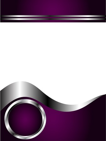 A deep purple and Silver Business card or Background Template Illustration