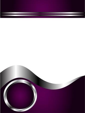 morado: Un p�rpura profundo y la tarjeta de negocios de plata o la plantilla de fondo