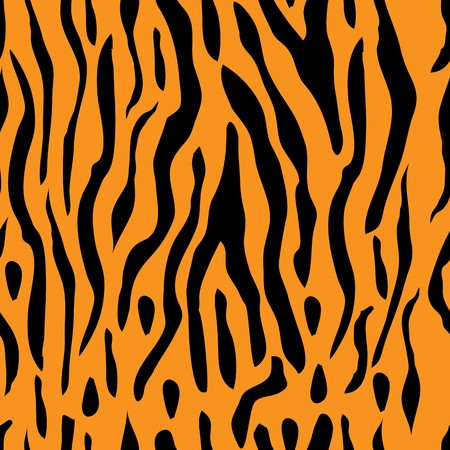 A seamless tiger stripe illustration which can be tiled Illustration