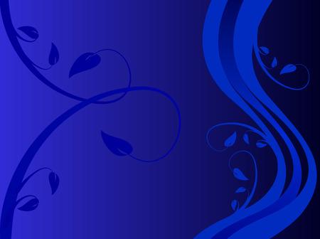 formal blue: A blue formal floral background  with a blue formal floral design on a darker blue background with embedded design. Room for text Illustration