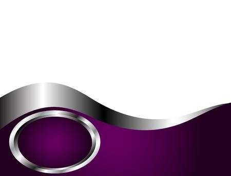 silver circle: Un profondo viola e argento e bianco biglietto da visita o modello di sfondo