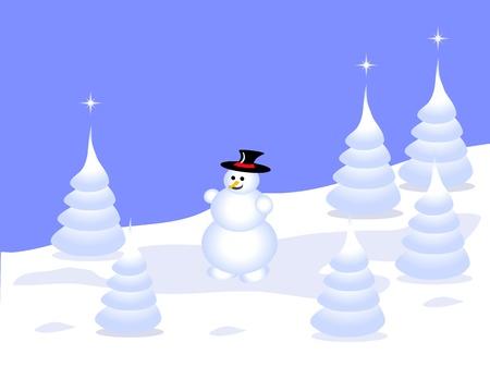 accidentado: Escena de fondo de invierno grunge abstracto con �rboles de Navidad cubierto de nieve en un paisaje monta�oso.