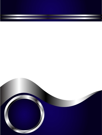 A royal blue and Silver and white Business card or Background Template