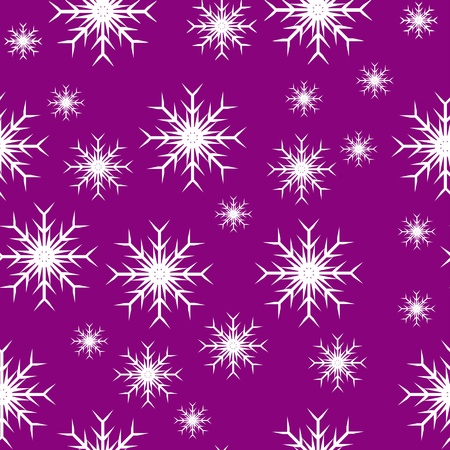 An abstract mauve seamless snowflake background which can be tiled Vector
