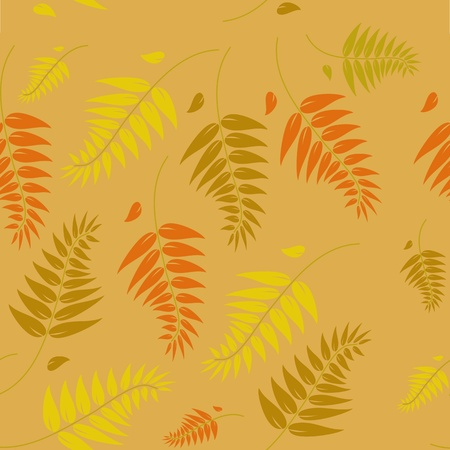A seamless autumn vector background illustration which can be tiled. Vector
