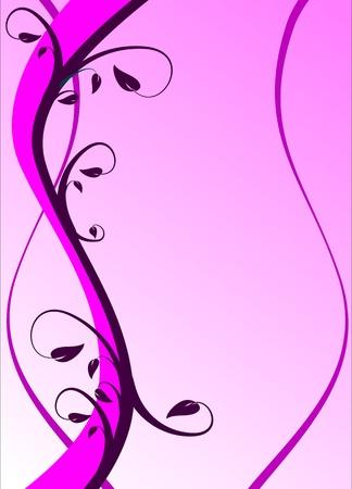 mauve: A mauve floral background illustration